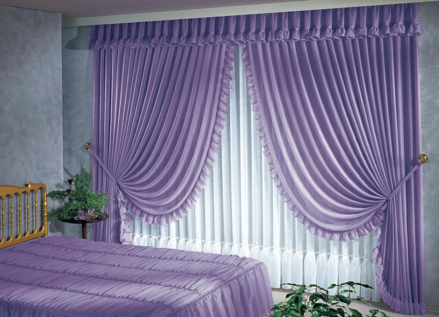 Raumdekoration in verschiedenen farben gardinen bader - Querbehang wohnzimmer ...