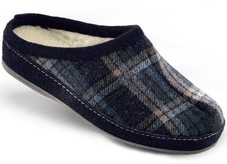 e1624d5bb1187 Atmungsaktiver Textil-Pantoffel mit anatomisch geformtem Fußbett