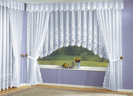 Gardinen garnitur gardinen bader - Querbehang wohnzimmer ...