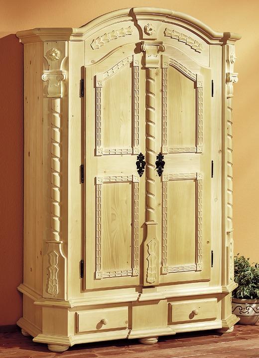 Landhausmöbel   Dielenschrank In Verschiedenen Dekors, In Farbe NATUR  GEWACHST Ansicht 1