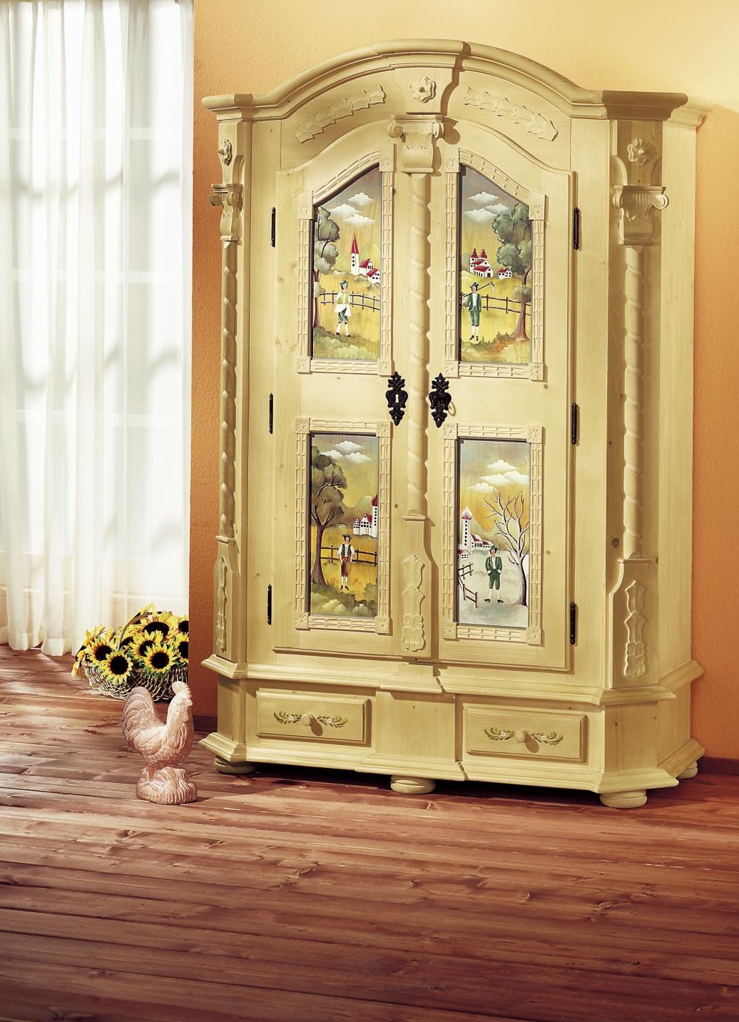 dielenschrank in 3 dekors landhausm bel bader. Black Bedroom Furniture Sets. Home Design Ideas