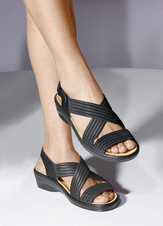 stretch bequem sandalette in verschiedenen farben. Black Bedroom Furniture Sets. Home Design Ideas