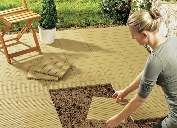 TerrassenplattenSet Teilig Verschiedene Ausführungen - Günstige terrassenplatten holz