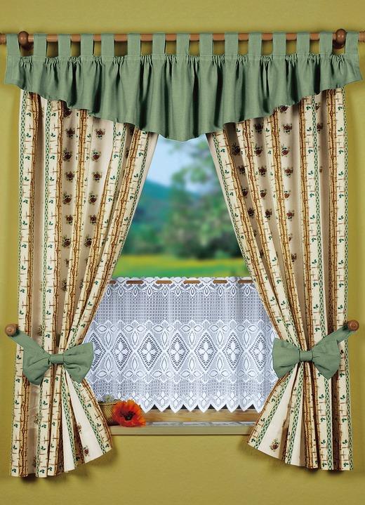 kurzstore mit stangendurchzug gardinen bader. Black Bedroom Furniture Sets. Home Design Ideas