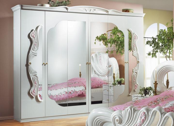 Schlafzimmerschränke   Kleiderschrank Verschiedene Ausführungen, In Farbe  MAHAGONI, In Ausführung 4 Türig Ansicht