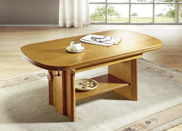 Klassische Möbel   Couchtisch, Ausziehbar Und Höhenverstellbar, In Farbe  EICHE RUSTIKAL