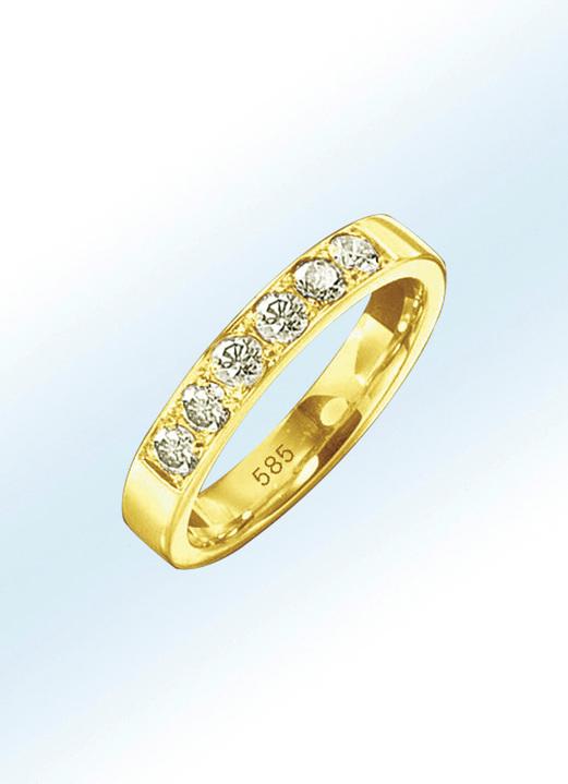 481a6b4e4a Ringe - Memoire-Ring mit Brillanten, in Größe 16.0 bis 24.0, in Farbe