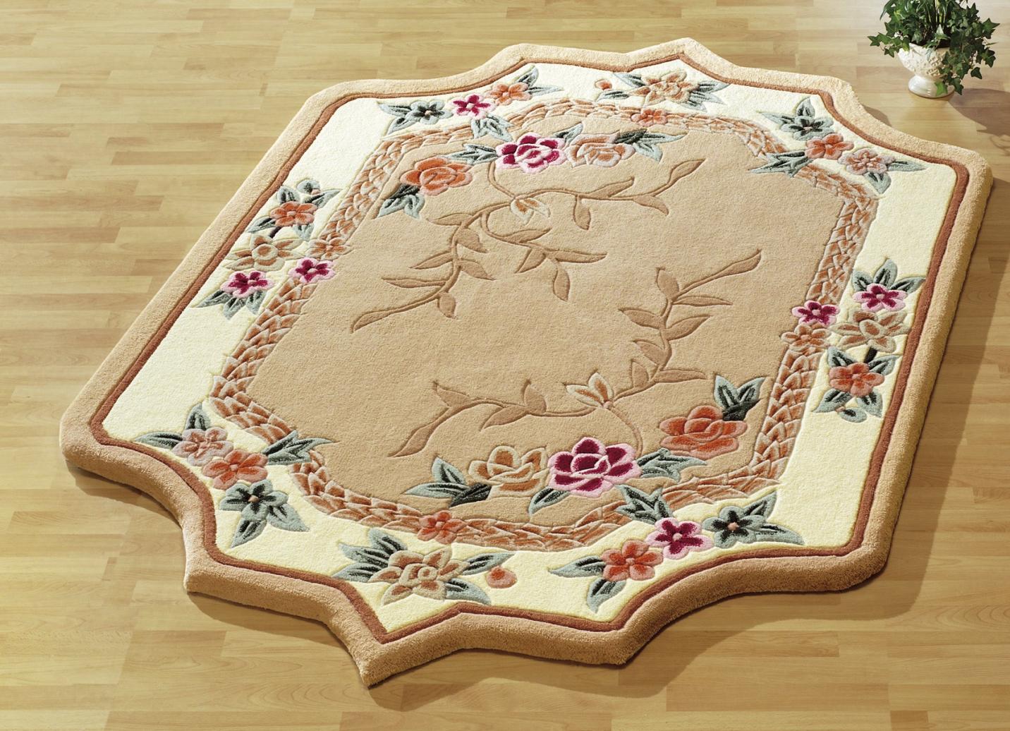 br cken teppiche und bettumrandung mit aubousson muster teppiche bader. Black Bedroom Furniture Sets. Home Design Ideas