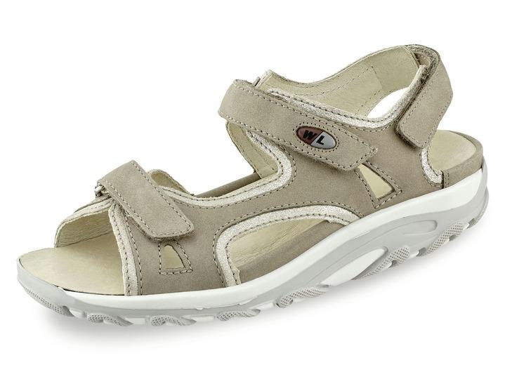 Sandaletten   Pantoletten - Sandalette in 5 Farben mit herausnehmbarem  Lederfußbett, Weite H, in 8d4d7b8a45