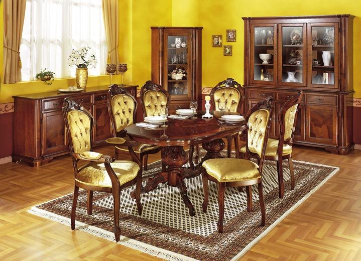 Stilmöbel   Esszimmer Möbel Mit Wurzelholzfurnier, Verschiedene  Ausführungen, In Farbe GOLD, In