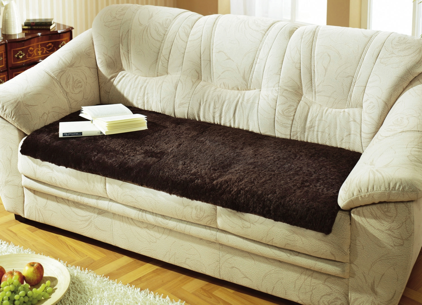 Couchauflage lammfell sessel sofa berw rfe bader for Couch auflage