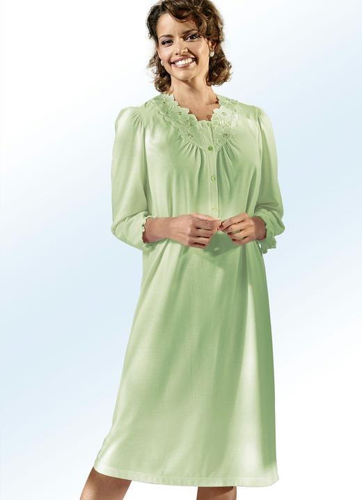 Nachthemd langarm mit knopfleiste und spitze - Bader festliche kleider ...