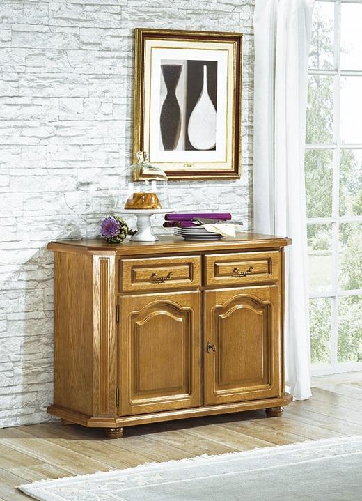 kommode mit 2 schubladen und 2 t ren eiche rustikal. Black Bedroom Furniture Sets. Home Design Ideas