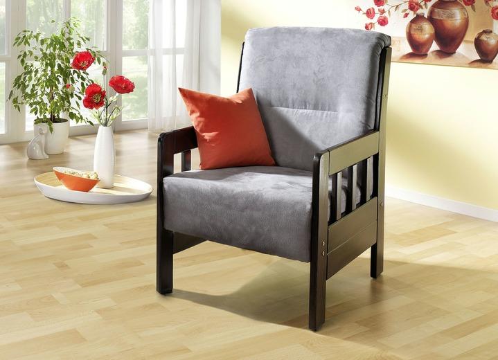 Landhausmöbel   Polstermöbel In Verschiedenen Ausführungen, In Farbe GRAU,  In Ausführung Sessel Ansicht 1