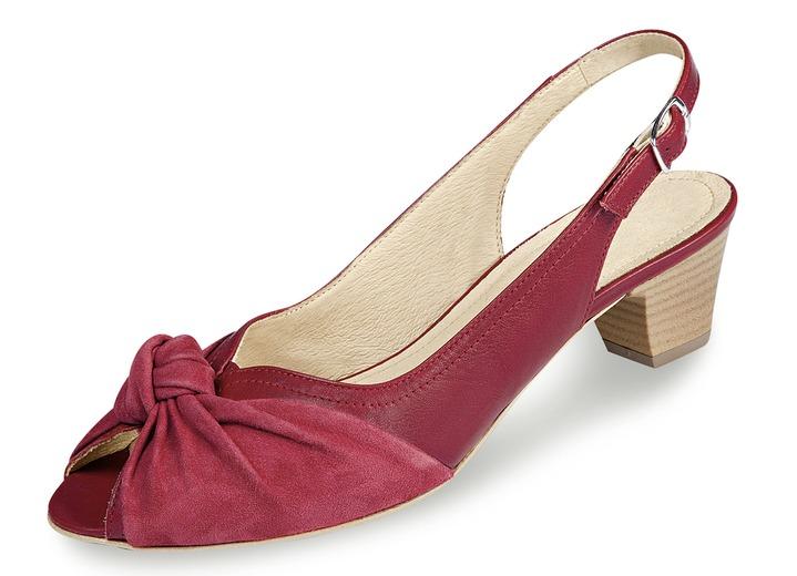 uk availability bfd4e c9cc2 Elegante Sandalette in 5 Farben mit gepolsterter Lederdecksohle, Weite H