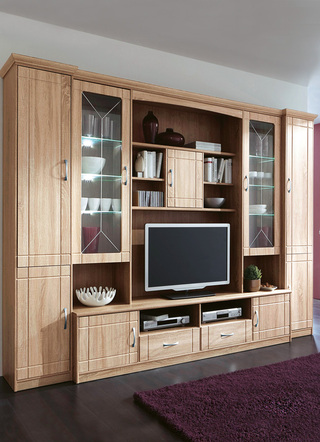 moderne wohnwand mit viel stauraum, fürs wohnzimmer: schicke anbauwände mit reichlich stauraum, Design ideen