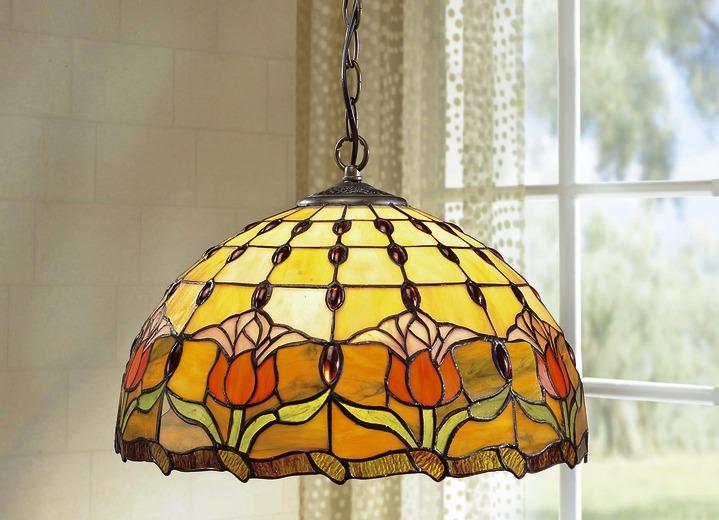 Klassische Möbel   Tiffany Pendelleuchte, 1 Flammig, In Farbe BUNT