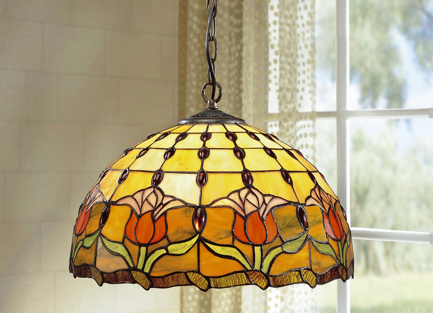 tiffany pendelleuchte 1 flammig lampen leuchten bader. Black Bedroom Furniture Sets. Home Design Ideas