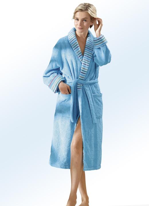 Bademantel mit faszinierender strukturierung in 2 farben - Bader festliche kleider ...