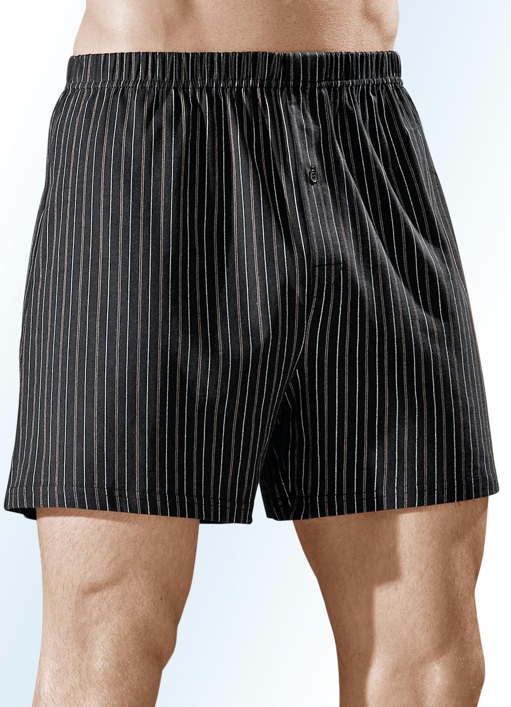 viererpack boxershorts bunt gestreift w sche bader. Black Bedroom Furniture Sets. Home Design Ideas