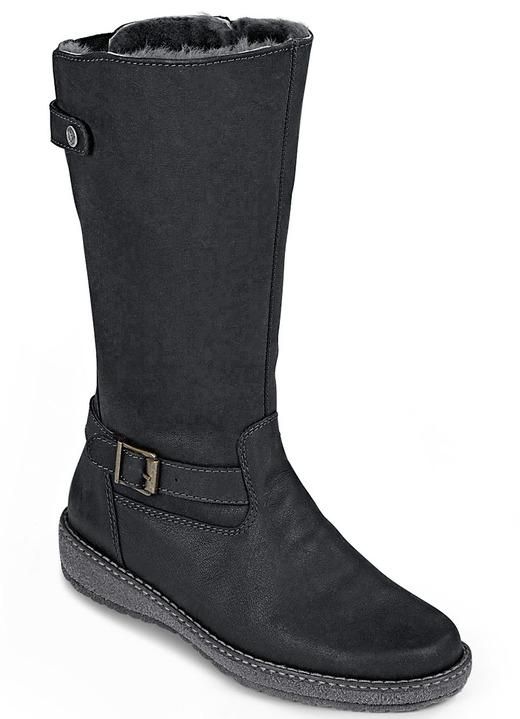 4c6750f5d8a98c Stiefel   Stiefeletten - Kuscheliger Stiefel in 2 Farben mit herausnehmbarem  Fußbett