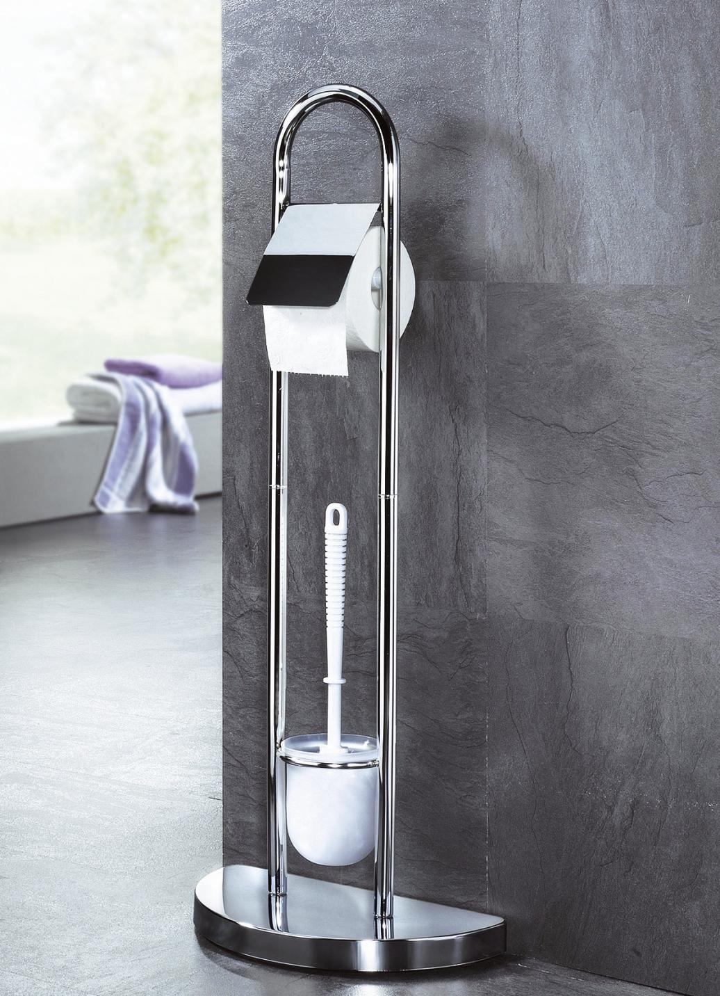 Stand wc garnitur badezimmer accessoires bader for Badezimmer garnitur
