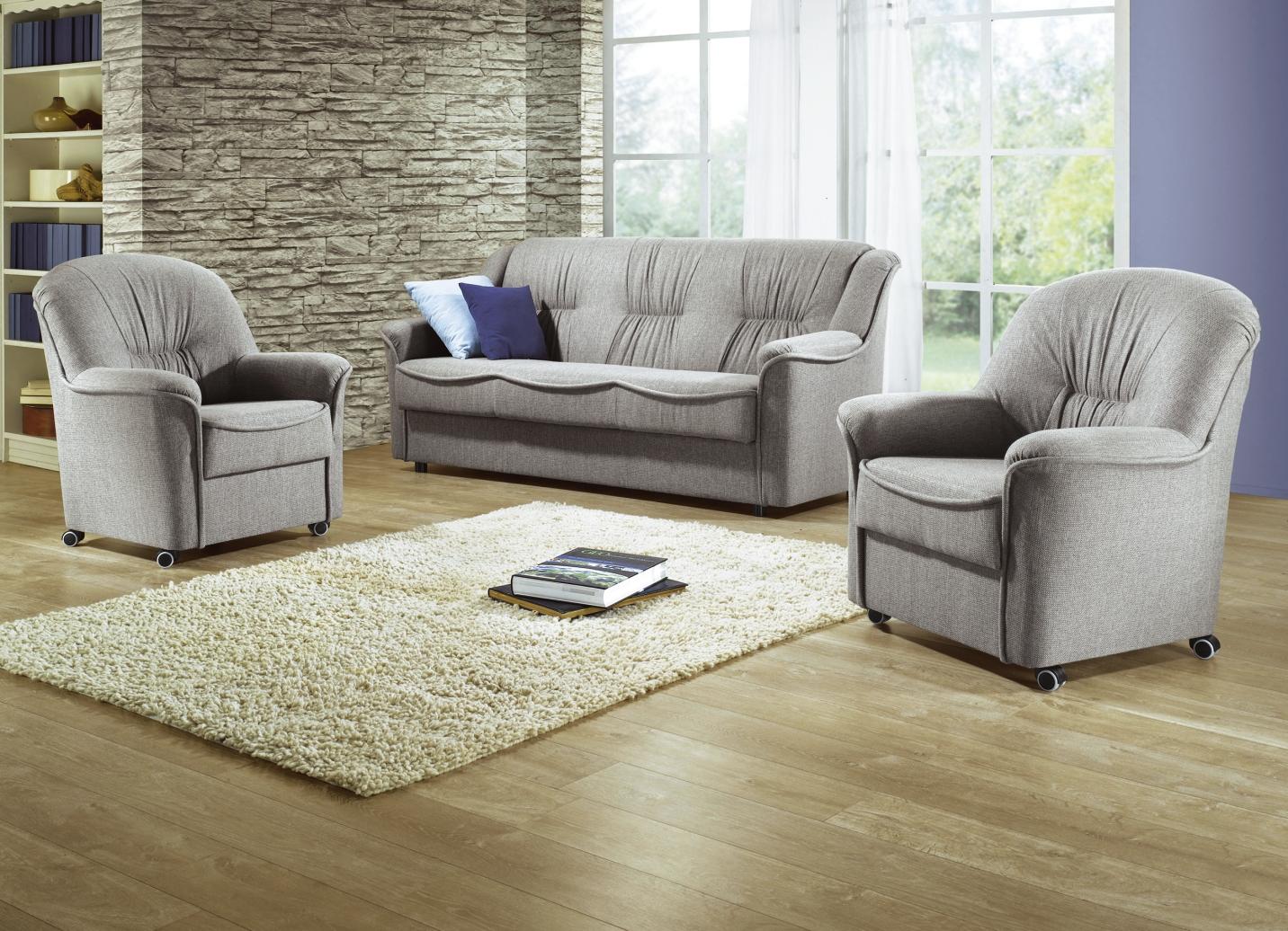 polstergruppe 3 teilig verschiedene farben klassische m bel bader. Black Bedroom Furniture Sets. Home Design Ideas