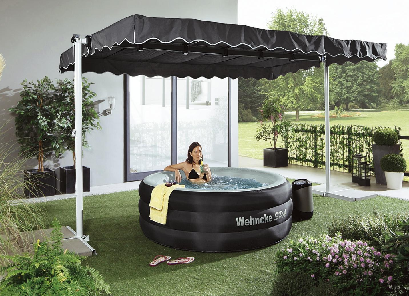 standmarkise dubai in 2 farben sichtschutz und sonnenschutz bader. Black Bedroom Furniture Sets. Home Design Ideas
