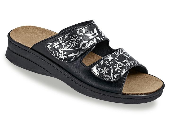 1eb1dea8853eb5 Sandaletten   Pantoletten - Pantolette in 2 Farben mit herausnehmbarem  Kork-Naturkautschuk-Lederfußbett