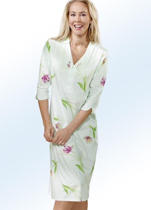 Nachthemd 3 4 lange rmel und knopfleiste nachtw sche - Bader festliche kleider ...
