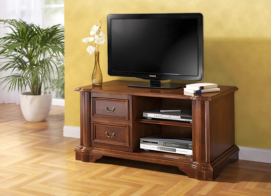 tv phono kommode mit echtem wurzelholzfurnier stilm bel bader. Black Bedroom Furniture Sets. Home Design Ideas