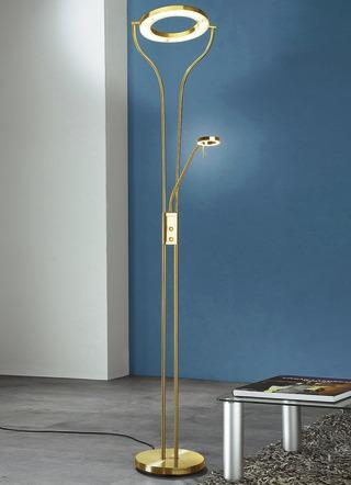 led deckenfluter mit lesearm in verschiedenen farben lampen leuchten bader. Black Bedroom Furniture Sets. Home Design Ideas