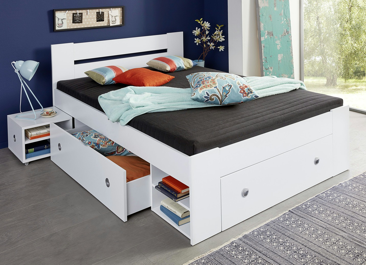 futonbett verschiedene ausf hrungen betten bader. Black Bedroom Furniture Sets. Home Design Ideas