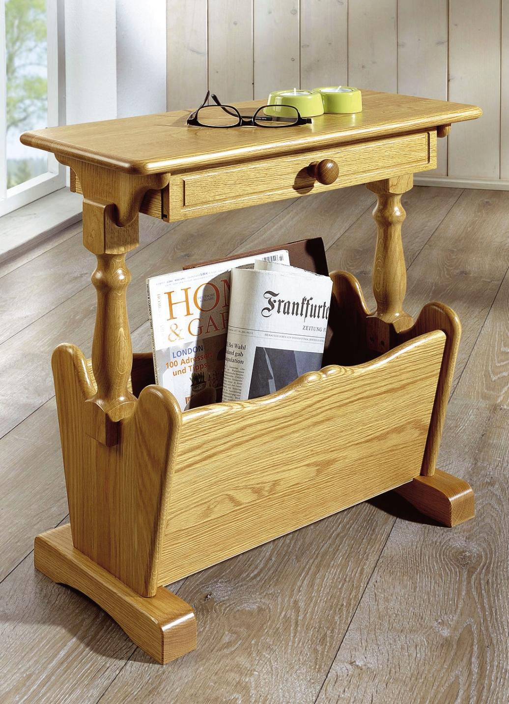 zeitungstisch in verschiedenen farben eiche rustikal m bel bader. Black Bedroom Furniture Sets. Home Design Ideas