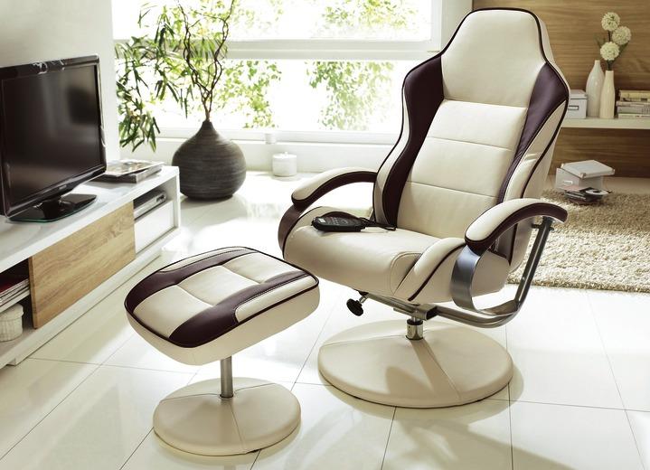 Moderne Möbel   Relax Sessel Mit Hocker In Verschiedenen Ausführungen, In  Farbe BEIGE