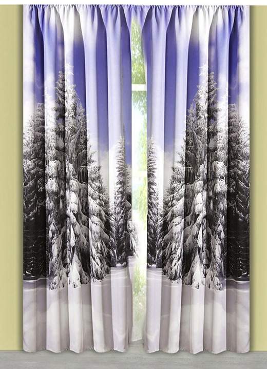 verdunkelungsschal winterwald gardinen bader. Black Bedroom Furniture Sets. Home Design Ideas