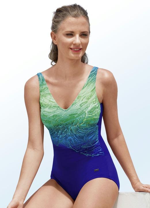 sale retailer 2f565 4c370 Naturana Badeanzug mit Halbkorsage und platziertem Druckdessin, bis Cup F