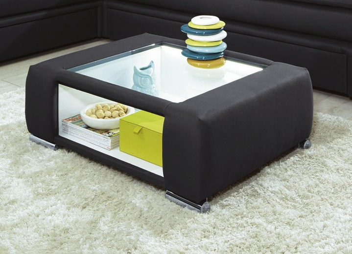 Couchtisch mit led beleuchteter glasplatte verschiedene for Designer couchtisch glasplatte