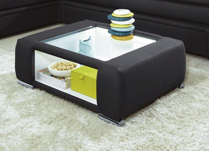 couchtisch mit led beleuchteter glasplatte tische bader. Black Bedroom Furniture Sets. Home Design Ideas