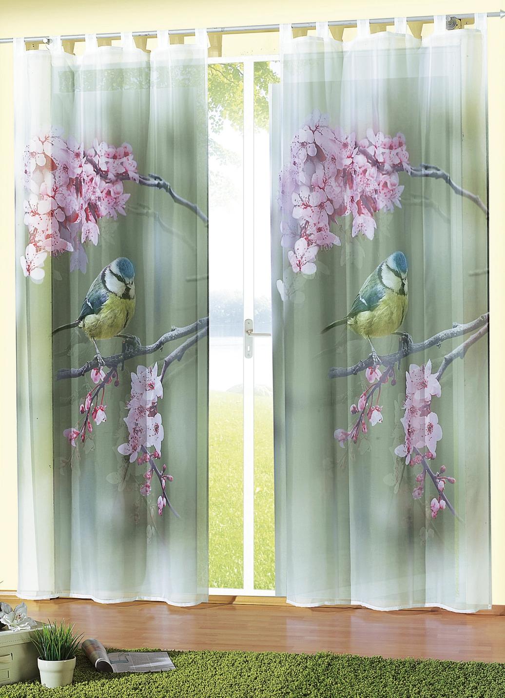 Fensterdekoration blaumeise in verschiedenen for Gardinen bader