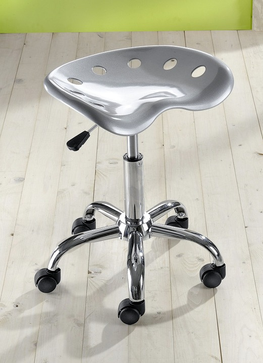 Hocker mit verchromtem Metallgestell - Küchenmöbel   BADER