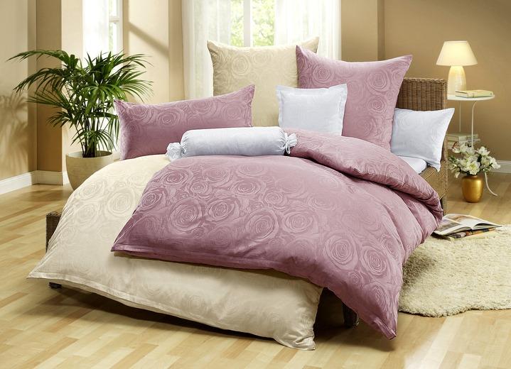 dormisette bettw sche garnitur mit rosen motiv. Black Bedroom Furniture Sets. Home Design Ideas