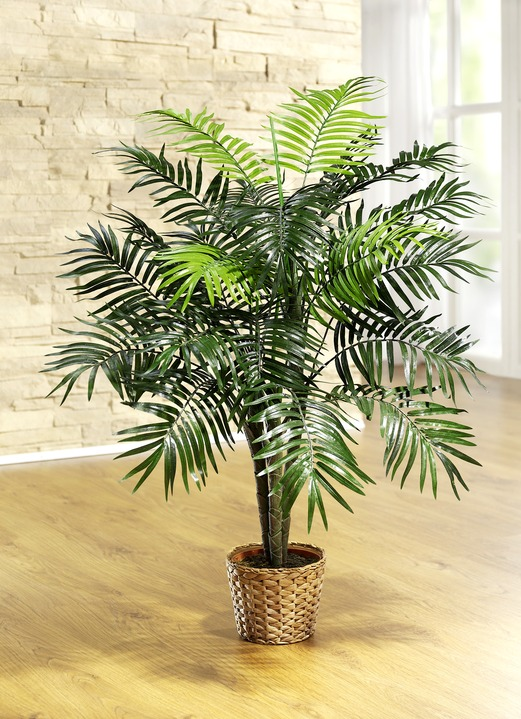 palme im topf kunst textilpflanzen bader