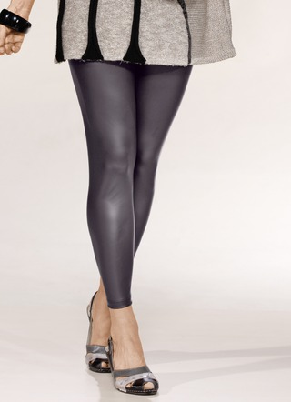 Leggings aus softem Nappaleder-Imitat