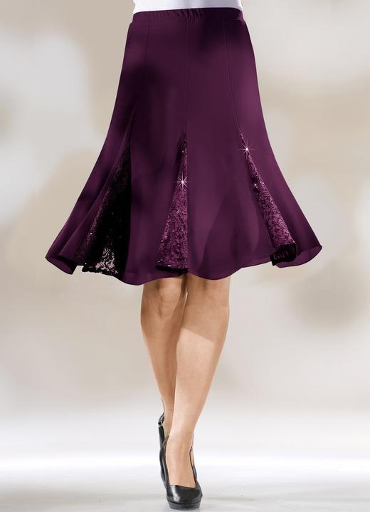 Bahnenrock mit edlen spitzeneins tzen in 3 farben r cke for Bader festliche kleider