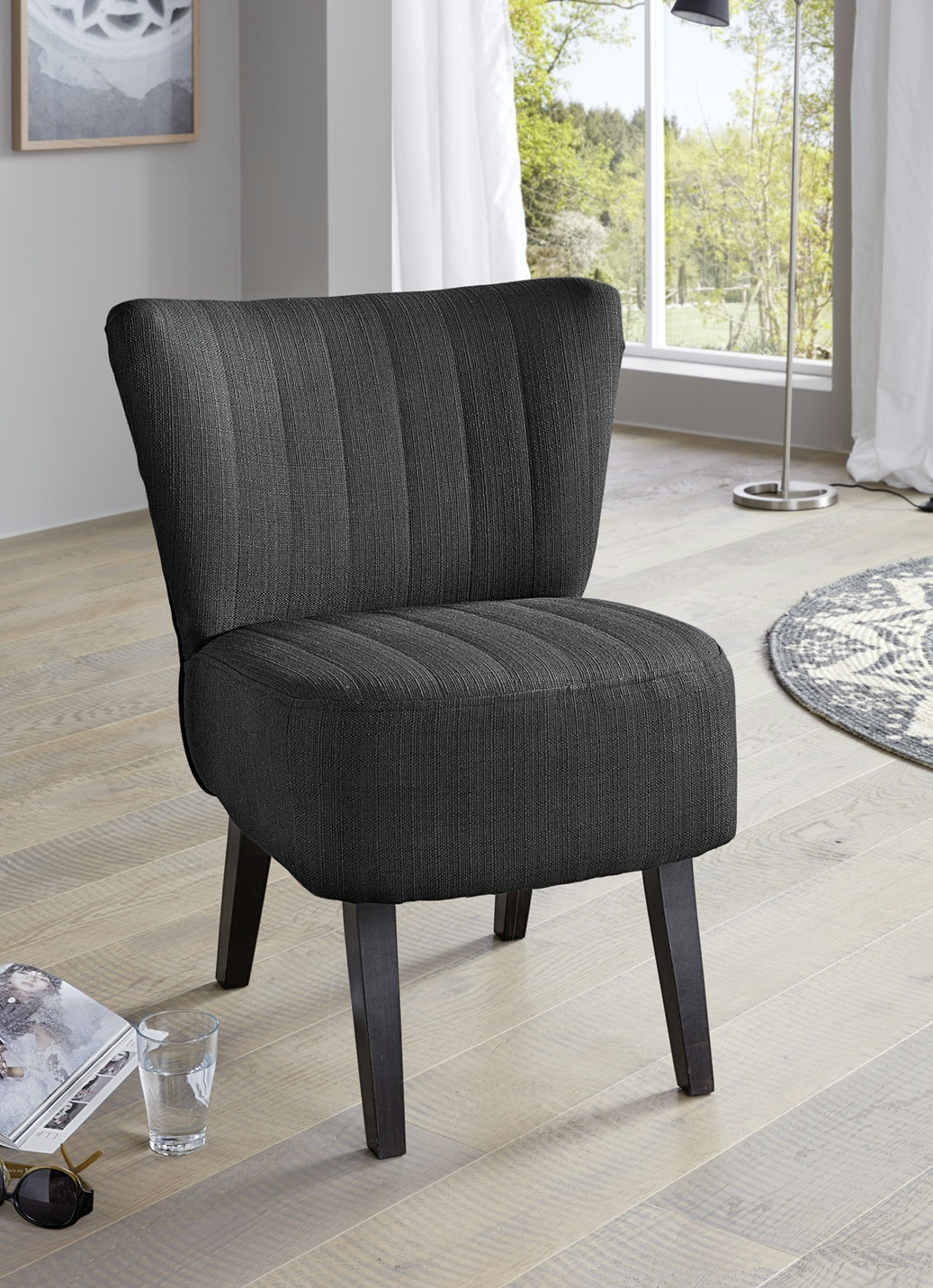 cocktailsessel in verschiedenen farben polsterm bel bader. Black Bedroom Furniture Sets. Home Design Ideas