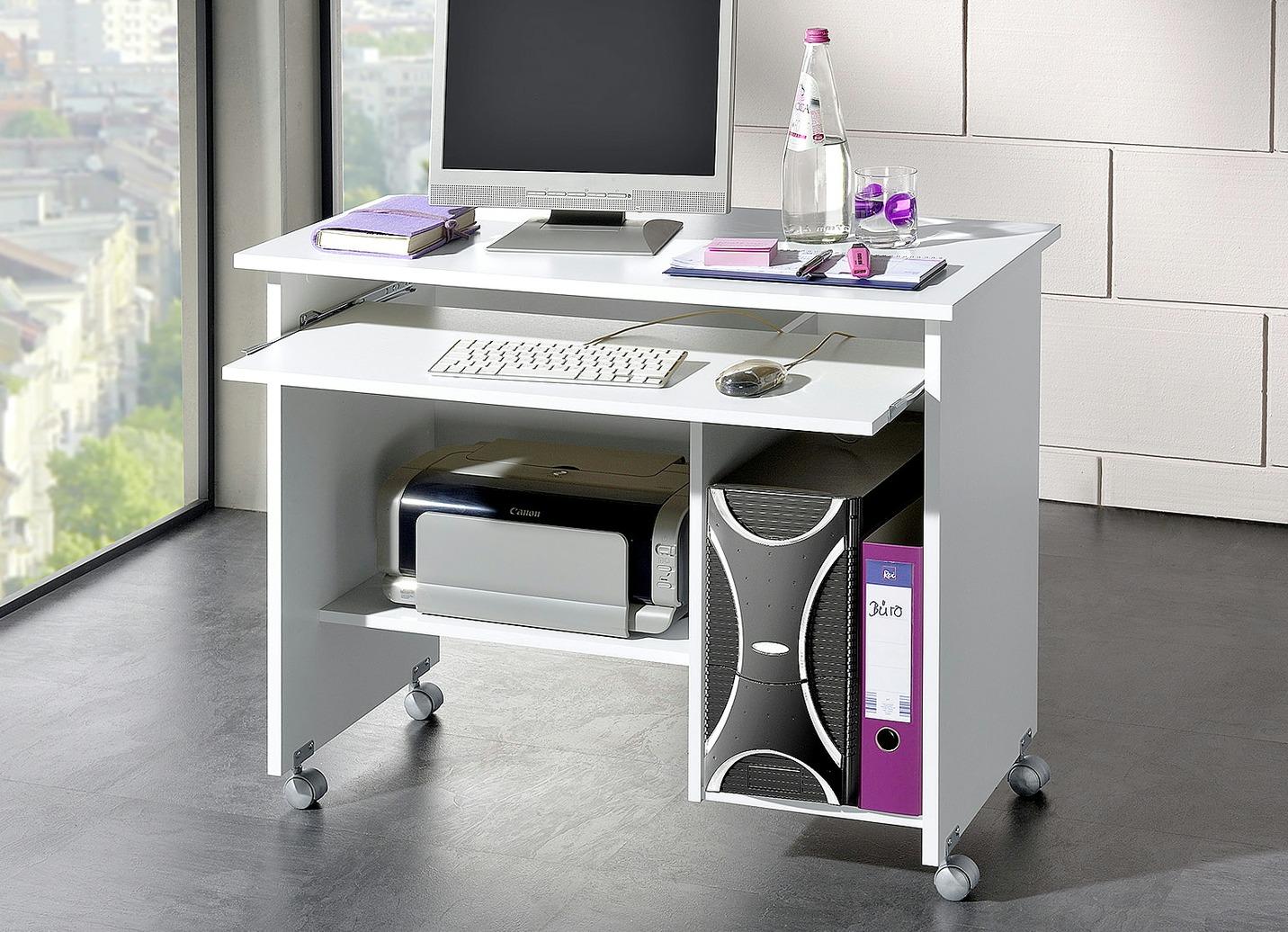 computertisch in verschiedenen farben b rom bel bader. Black Bedroom Furniture Sets. Home Design Ideas