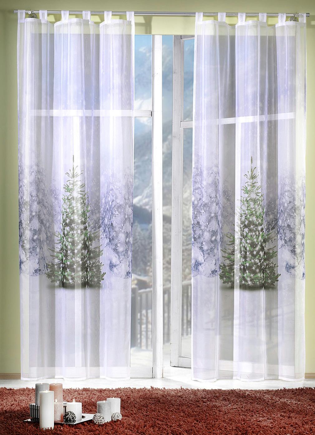 dekoschal winterb umchen gardinen bader. Black Bedroom Furniture Sets. Home Design Ideas