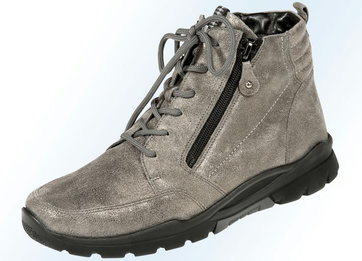 23102d793c99a1 Stiefel   Stiefeletten - Schnür-Stiefelette in 3 Farben mit herausnehmbarem  Fußbett