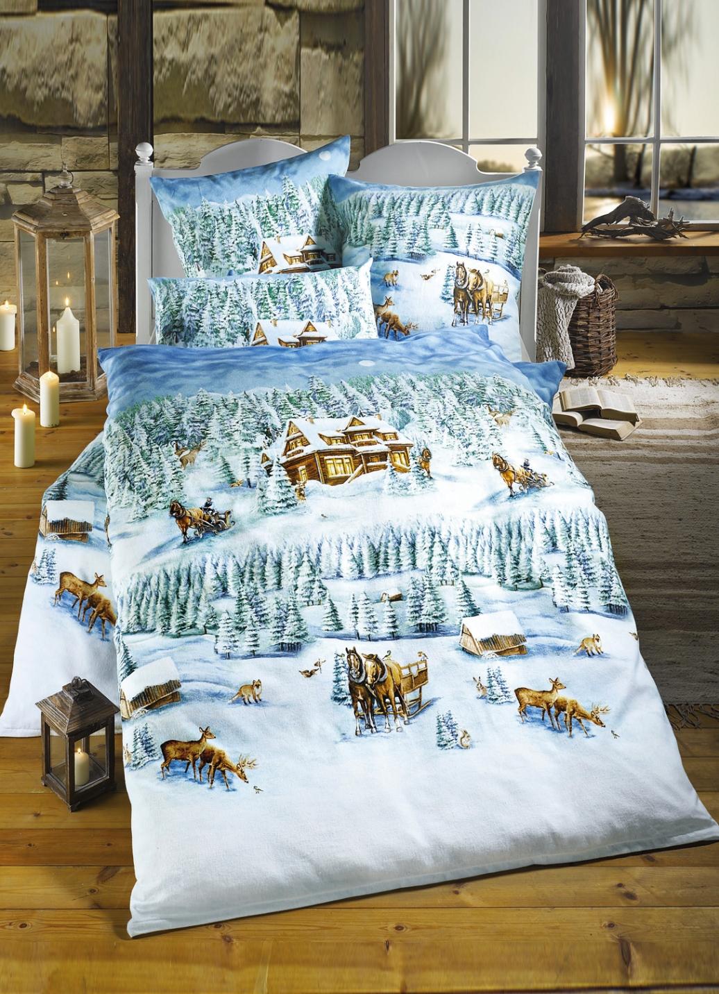 dobnig bettw sche garnitur winterlandschaft bettw sche. Black Bedroom Furniture Sets. Home Design Ideas